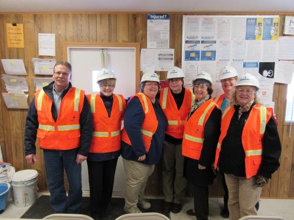 L to r: Don Roethler (Building & Grounds) and the Library crew: Marlene Anderson, Laura Kalvoda, Johanna Bjork, Steph Borud, Kristi Engle, Sandi Bates